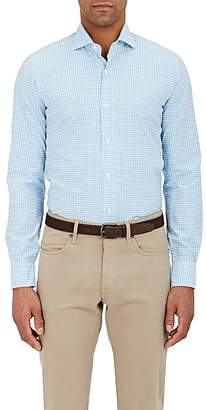 Barba Men's Gingham Checked Cotton Shirt
