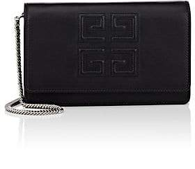 Givenchy Women's Emblem Leather Chain Wallet - Black