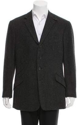 Ralph Lauren Purple Label Wool Herringbone Blazer
