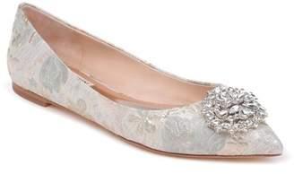 Badgley Mischka 'Davis' Crystal Embellished Pointy Toe Flat