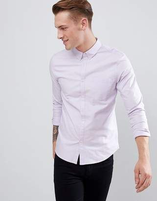 New Look Oxford Shirt In Regular Fit In Lilac