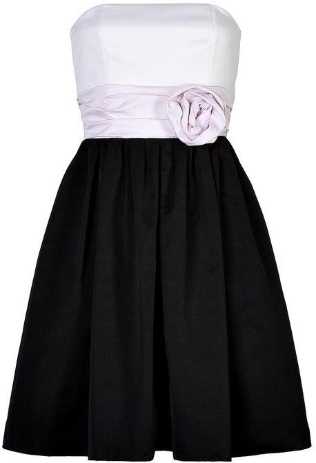 Paule KaPaule Ka Strapless Dress with Rose Sash