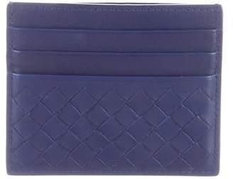 Bottega Veneta Intrecciato Leather Card Holder w/ Tags