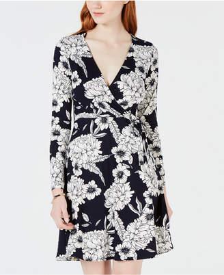 One Clothing Juniors' Printed Wrap Dress