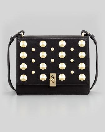 Be & D Parker Studded Shoulder Bag, Black