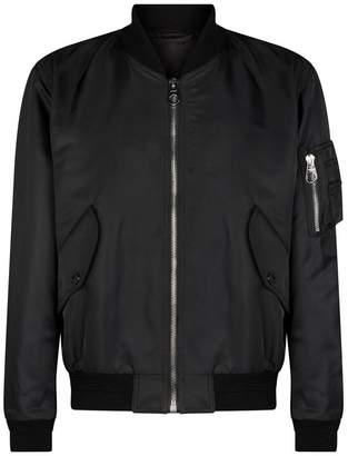 Burberry Crest Print Bomber Jacket
