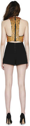 Alice + Olivia Black Larissa Pleated Shorts