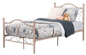 South Shore Country Poetry Complete Metal Platform Bed