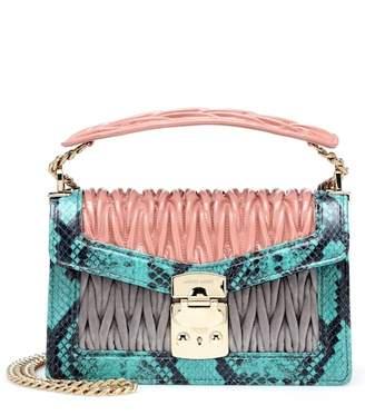 Miu Miu Confidential leather shoulder bag