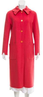 Barneys New York Barney's New York Virgin Wool & Angora-Blend Long Coat