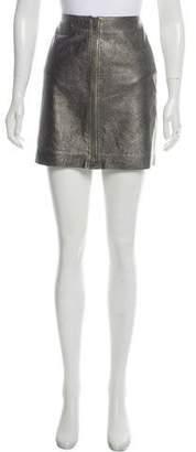 Calvin Klein Leather Metallic Skirt