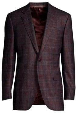 Canali Woven Plaid Sports Jacket