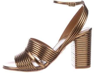 Aquazzura Leather Ankle-Strap Sandals