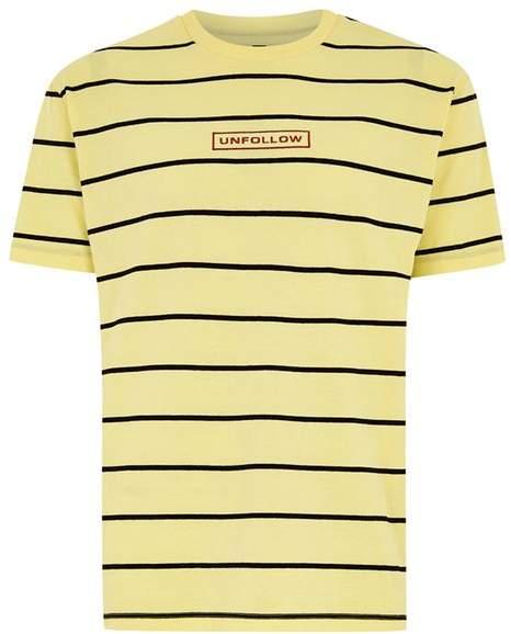 Oversize T-Shirt mit Streifendesign, gelb