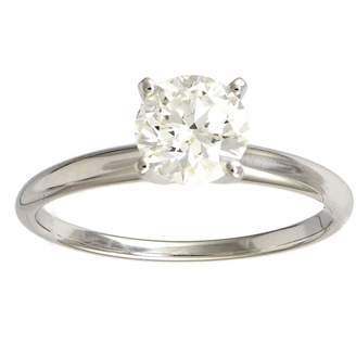 Affinity Diamond Jewelry Diamond Solitaire Ring, 1cttw, 14K White Gold ,by Affinity