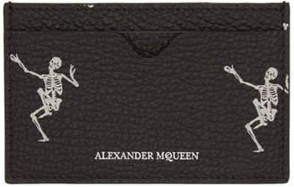 Alexander McQueen Black Dancing Skeleton Card Holder