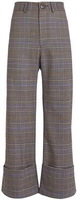 Sea Rowan Cuffed Plaid Trousers