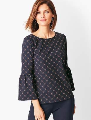 Talbots Knit Jersey Juliet-Sleeve Top - Printed