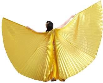 Co Pilot-trade clothing trade Pilot-trade Women's 2 Stick Belly Dance Costume Bifurcate Isis Wings