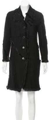 Nina Ricci Fur-Trimmed Tailored Jacket w/ Tags