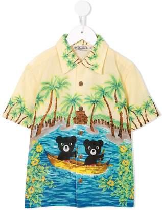 Mikihouse Miki House teddy print shirt