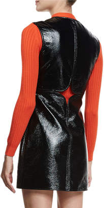 Courreges Cutout Vinyl Shift Dress