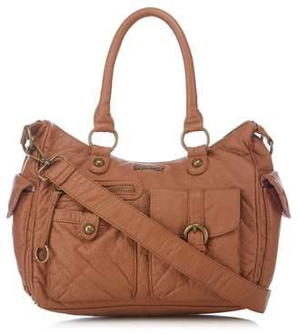Mantaray Light Brown Multi Pocket Bowler Bag