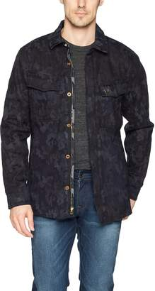 True Religion Men's Jaquard Print Field Jacket, M