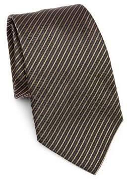 Emporio Armani Fine Stripe Silk Tie