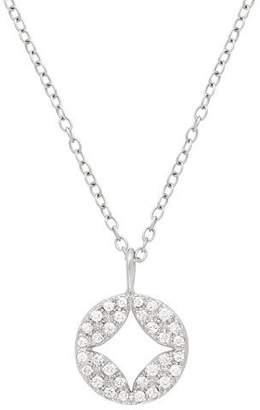 Jamie Wolf 18k Open Aladdin Diamond Disc Pendant Necklace