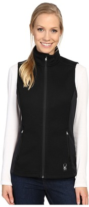 Spyder Melody Full Zip Mid Weight Core Sweater Vest $89 thestylecure.com