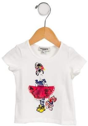 Junior Gaultier Girls' Printed Short Sleeve T-Shirt w/ Tags