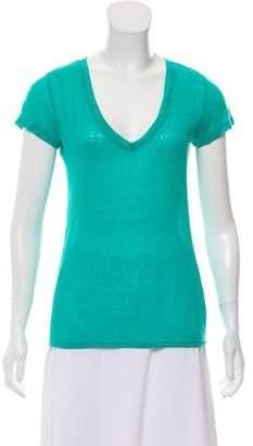 Calypso Linen V-Neck T-Shirt