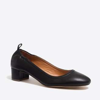 J.Crew Anya leather block heels