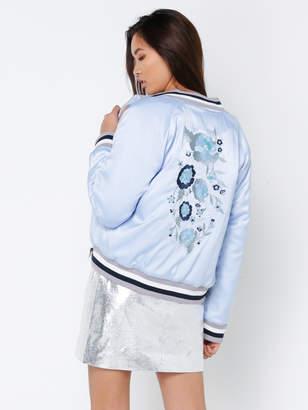 Glamorous Oriental Embroidered Bomber Jacket