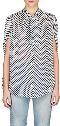 Balenciaga Women's Striped Crêpe De Chine Blouse