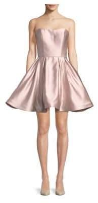 Betsy & Adam Short Sweetheart Strapless Dress