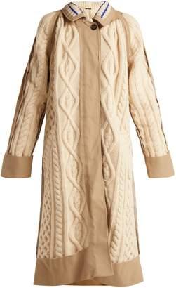 Maison Margiela Cable-knit wool-blend coat