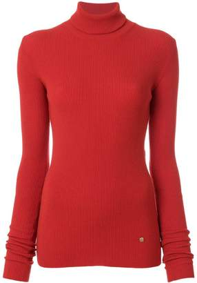Nina Ricci cutout-detail ribbed-knit turtleneck