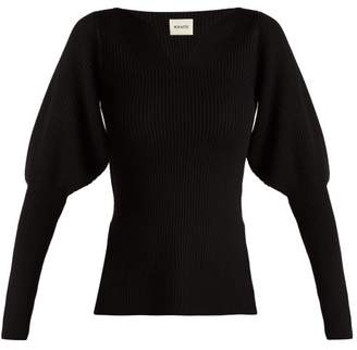 Khaite - Selena Puff Shoulder Sweater - Womens - Black
