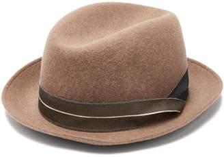 Giorgio Armani Grosgrain-trimmed wool-felt trilby hat