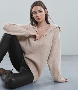 Reiss Porta Ribbed Over Sized Jumper