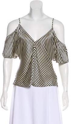 Alexander Wang Silk Cold Shoulder Top w/ Tags