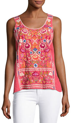 JWLA For Johnny Was Anaya Linen Embroidered Tank, Plus Size $195 thestylecure.com