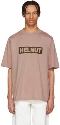 Helmut Lang Pink Tall Logo T-Shirt