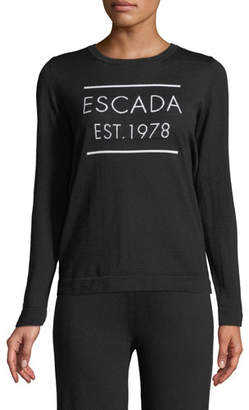 Escada Est. 1978 Long-Sleeve Wool Pullover