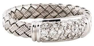 Roberto Coin 18K Diamond Woven Band white 18K Diamond Woven Band