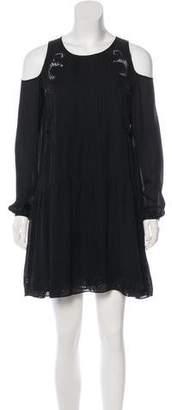 Thakoon Silk Long Sleeve Mini Dres