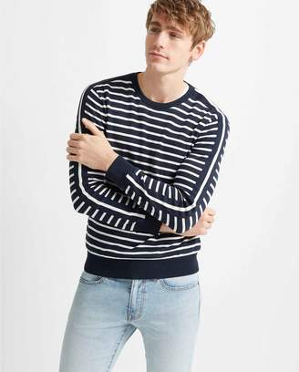 Club Monaco Strapped Stripe Crew