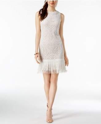 Julia Jordan Fringe-Hem Lace Dress